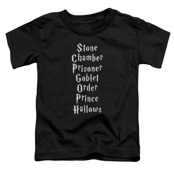 Harry Potter Titles Short Sleeve Toddler Tee Black T-Shirt