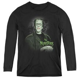 THE MUNSTERS MAN OF THE HOUSE - WOMENS LONG SLEEVE TEE - BLACK