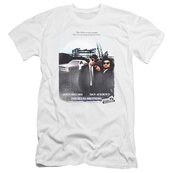 Blues Brothers Distressed Poster Premuim Canvas Adult Slim Fit