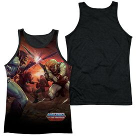 Masters Of The Universe Battle Adult Poly Tank Top Black Back