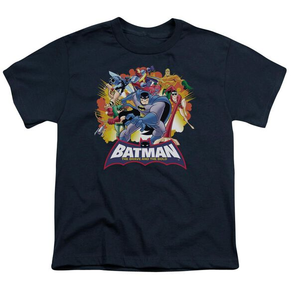 Batman Bb Explosive Heroes Short Sleeve Youth T-Shirt