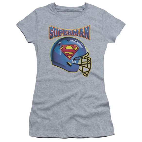 Superman Helmet Short Sleeve Junior Sheer Athletic T-Shirt