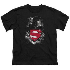 SUPERMAN DARKEST HOUR - S/S YOUTH 18/1 - BLACK T-Shirt