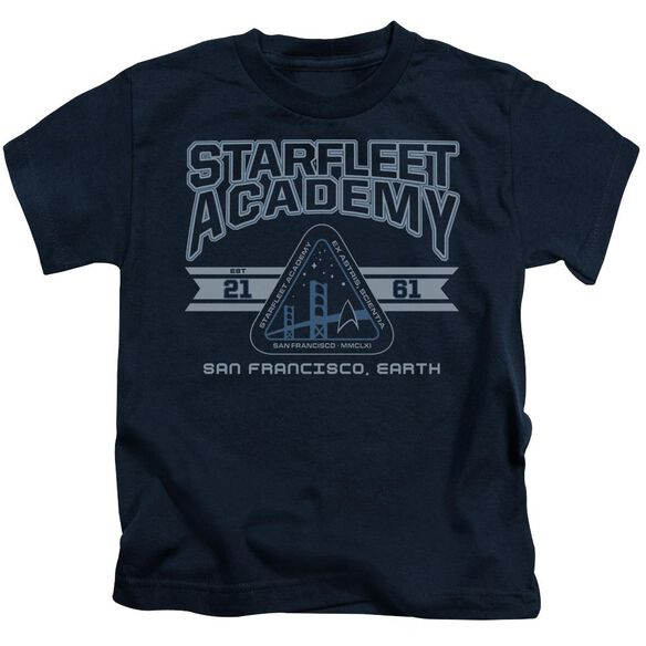 Star Trek Starfleet Academy Earth Short Sleeve Juvenile Navy T-Shirt