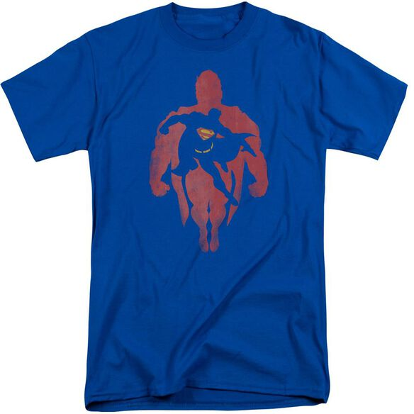 Superman Super Knockout Short Sleeve Adult Tall Royal T-Shirt