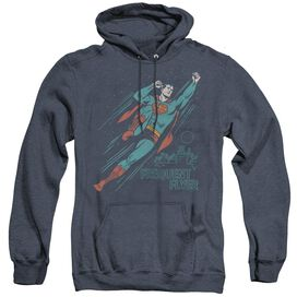 Superman Frequent Flyer - Adult Heather Hoodie - Navy