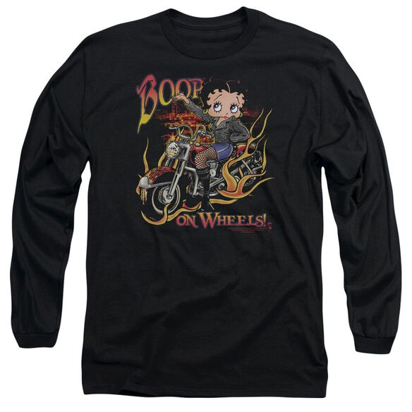 Betty Boop On Wheels Long Sleeve Adult T-Shirt