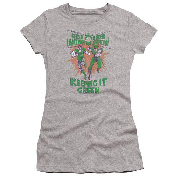 Green Lantern Keeping It Green Premium Bella Junior Sheer Jersey Athletic