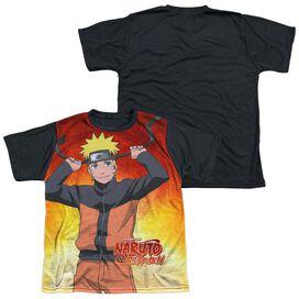 Naruto Naruto Short Sleeve Youth Front Black Back T-Shirt