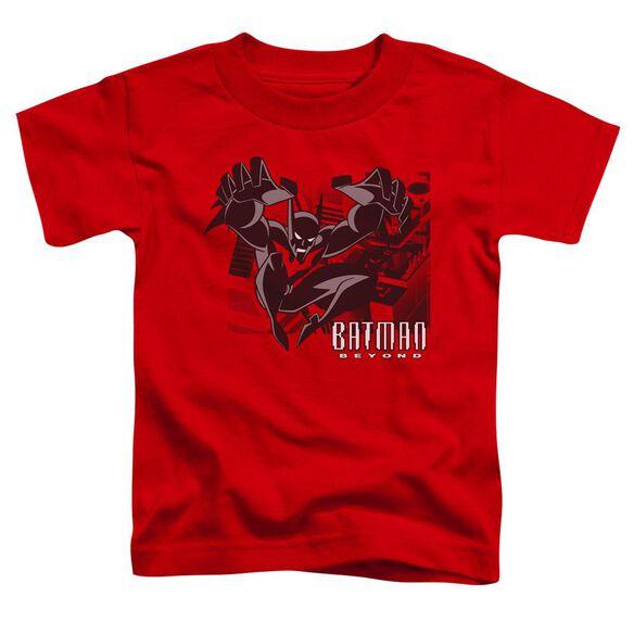 Batman Beyond City Jump Short Sleeve Toddler Tee Red T-Shirt