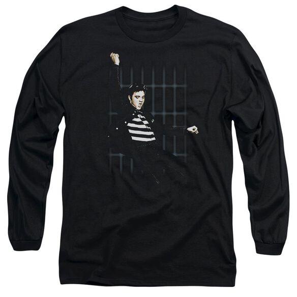 ELVIS PRESLEY BLUE BARS - L/S ADULT 18/1 - BLACK T-Shirt