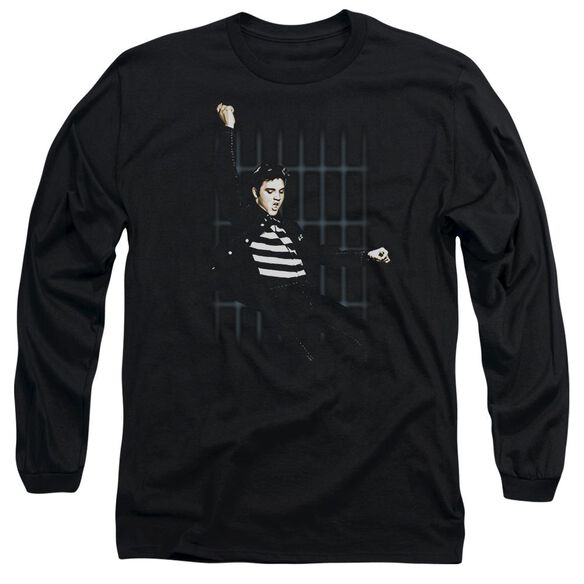 Elvis Presley Blue Bars Long Sleeve Adult T-Shirt