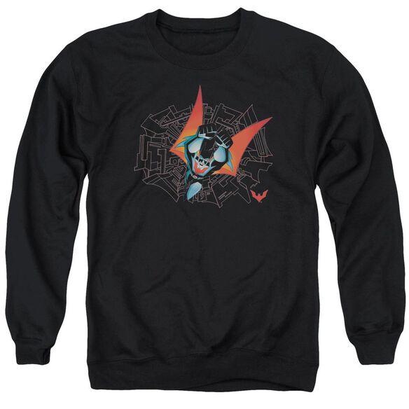 Batman Beyond Swooping Down Adult Crewneck Sweatshirt
