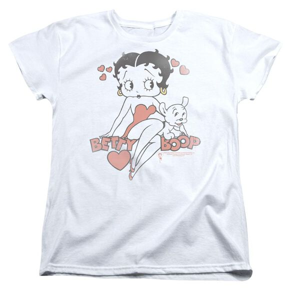 Betty Boop Classic With Pup Short Sleeve Womens Tee T-Shirt
