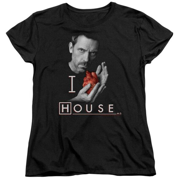House I Heart House Short Sleeve Womens Tee T-Shirt