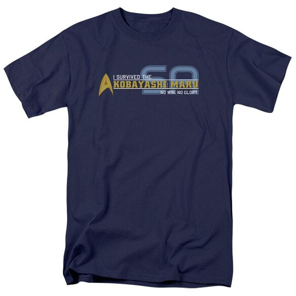 STAR TREK I SURVIVED - S/S ADULT 18/1 - NAVY T-Shirt