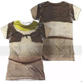 SHREK COSTUME (FRONT/BACK PRINT)-S/S JUNIOR T-Shirt