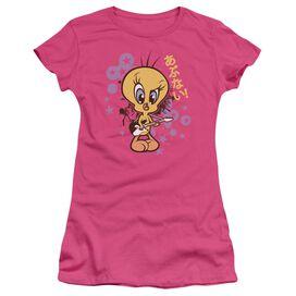 Looney Tunes So Bad Short Sleeve Junior Sheer Hot T-Shirt