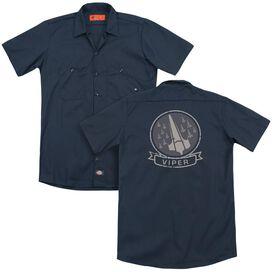Bsg Viper Squad (Back Print) Adult Work Shirt