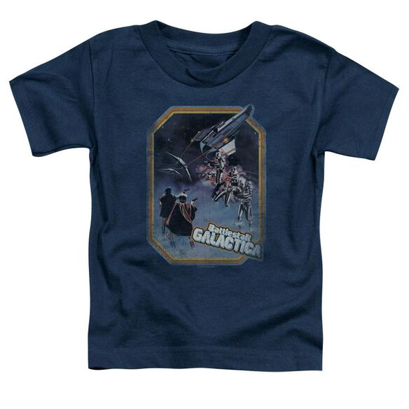 Bsg Poster Iron On Short Sleeve Toddler Tee Navy T-Shirt