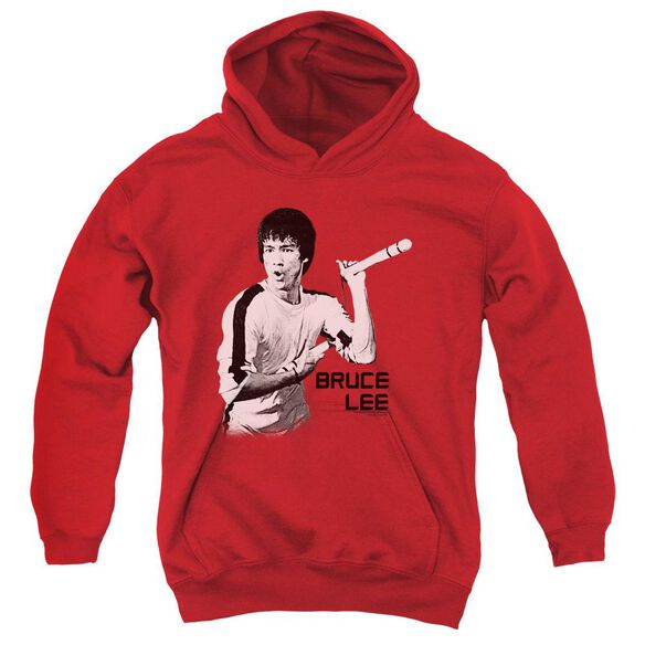 Bruce Lee Nunchucks Youth Pull Over Hoodie