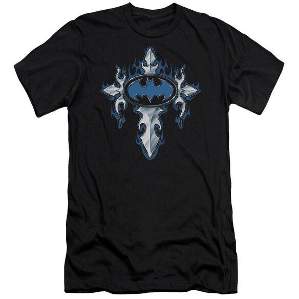 Batman Gothic Steel Logo Short Sleeve Adult T-Shirt