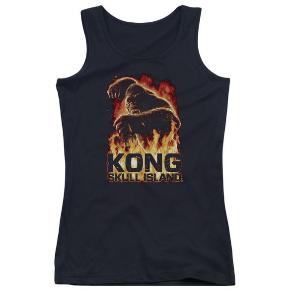 Kong Skull Island Out Of The Fire Juniors Tank Top