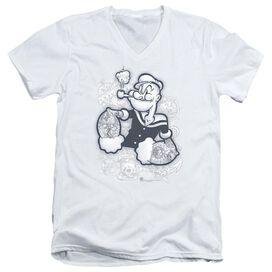 Popeye Tattooed Short Sleeve Adult V Neck T-Shirt