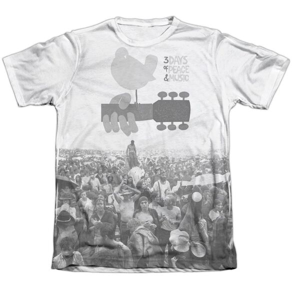 Woodstock Crowd Adult Poly Cotton Short Sleeve Tee T-Shirt