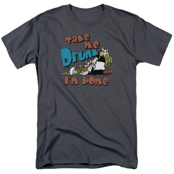 Hagar The Horrible Take Me Home Short Sleeve Adult Charcoal T-Shirt