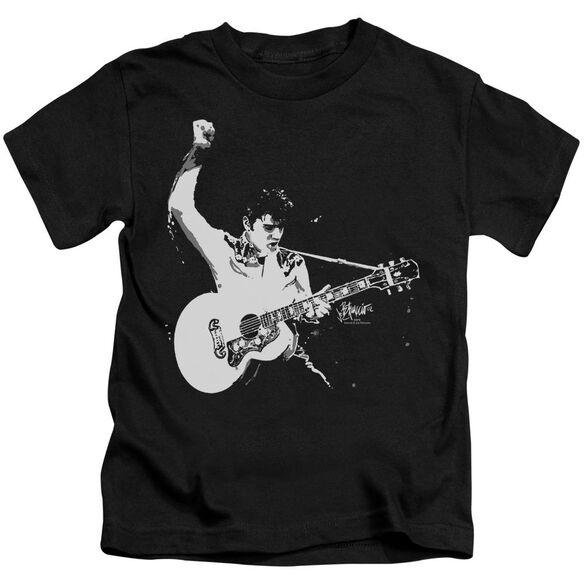 Elvis Black&White Guitarman Short Sleeve Juvenile T-Shirt