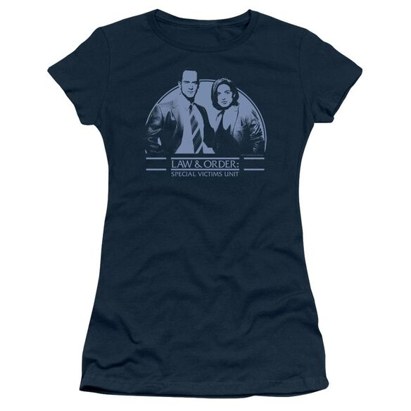 Law And Order Svu Elliot And Olivia Short Sleeve Junior Sheer T-Shirt