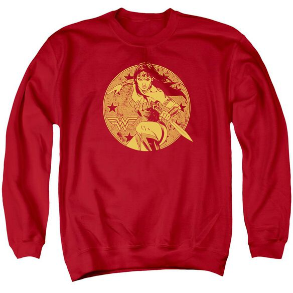 Jla Young Wonder Adult Crewneck Sweatshirt