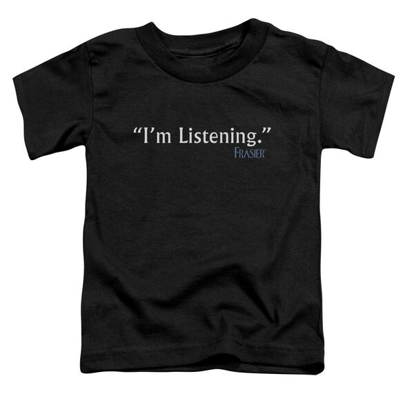 Frasier I'm Listening Short Sleeve Toddler Tee Black Lg T-Shirt