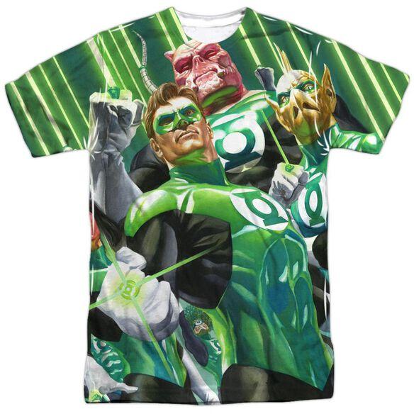 Green Lantern High Beams Short Sleeve Adult Poly Crew T-Shirt
