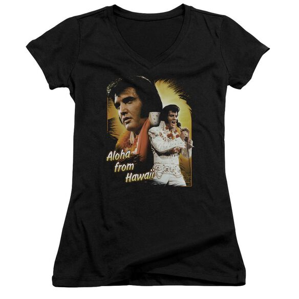Elvis Aloha Junior V Neck T-Shirt