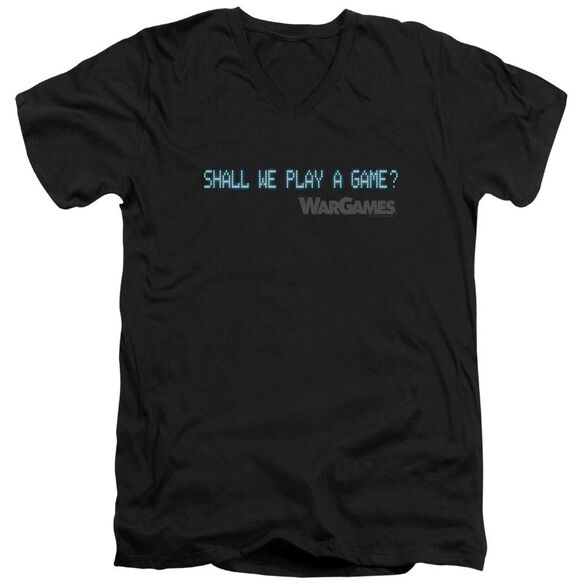 Wargames Shall We Short Sleeve Adult V Neck T-Shirt