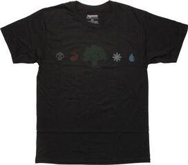 Magic The Gathering Green Mana Line T-Shirt