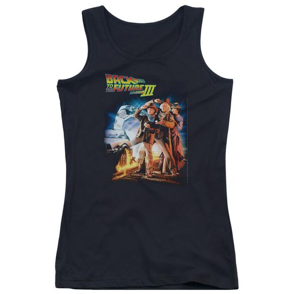 Back To The Future Iii Poster Juniors Tank Top