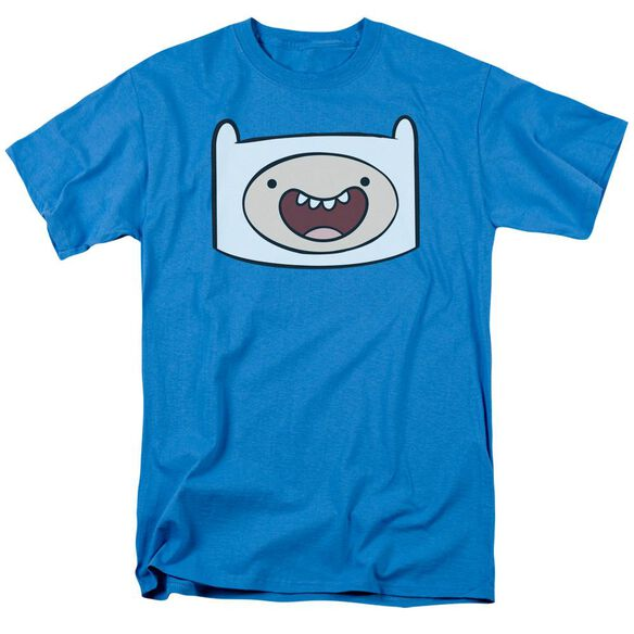 Adventure Time Finn Head Short Sleeve Adult Turquoise T-Shirt