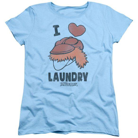 Fraggle Rock Laundry Lover Short Sleeve Womens Tee Light T-Shirt