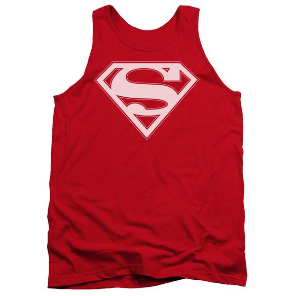 Superman & White Shield Adult Tank