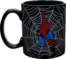 Spiderman Web Swing Black Jumbo Mug