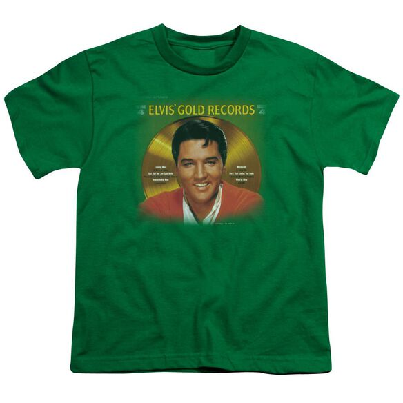 Elvis Gold Records Short Sleeve Youth Kelly T-Shirt