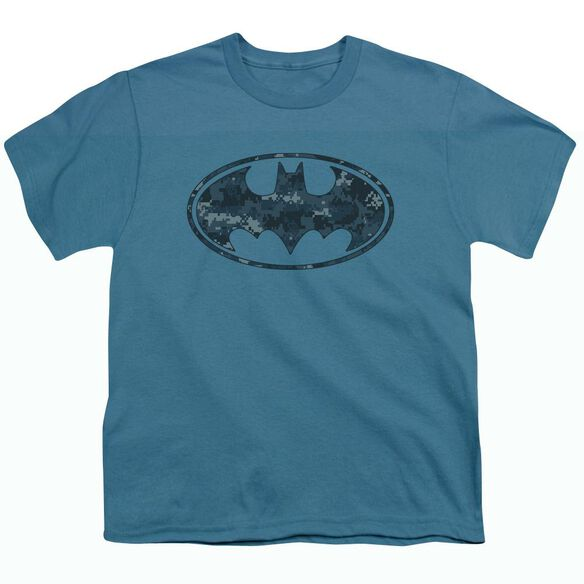 BATMAN NAVY CAMO SHIELD - S/S YOUTH 18/1 - SLATE T-Shirt