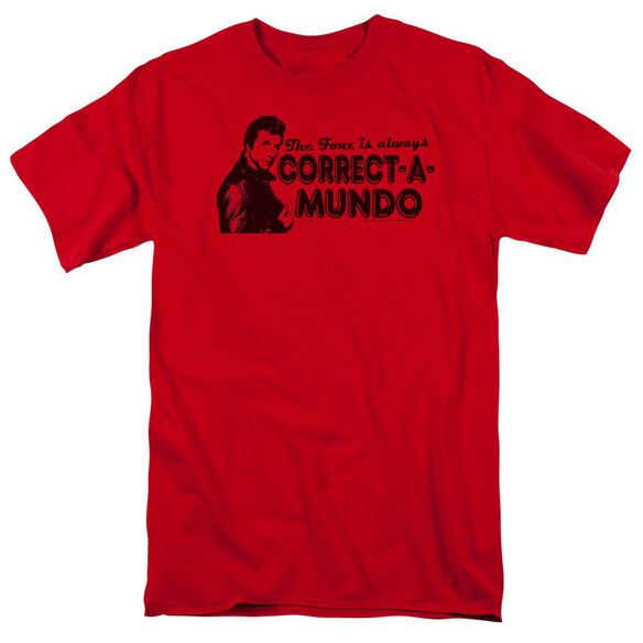 Happy Days Correct A Mundo Short Sleeve Adult T-Shirt