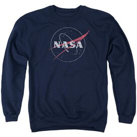 Nasa Distressed Logo Adult Crewneck Sweatshirt