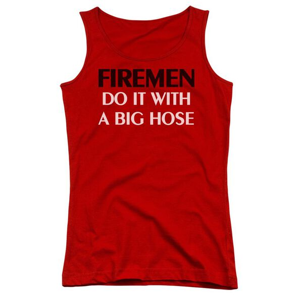 Fireman Do It Big Hose Juniors Tank Top