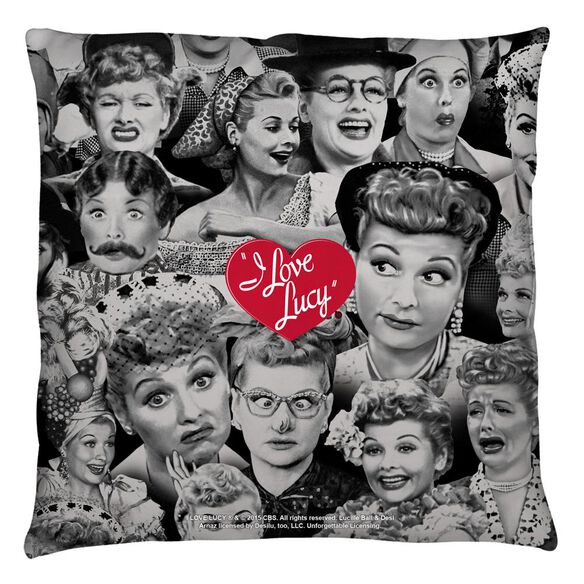 I Love Lucy Faces Throw