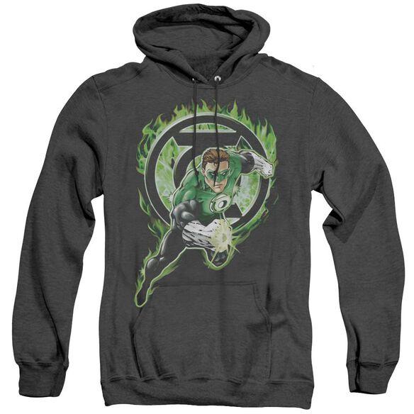 Green Lantern Space Cop - Adult Heather Hoodie - Black